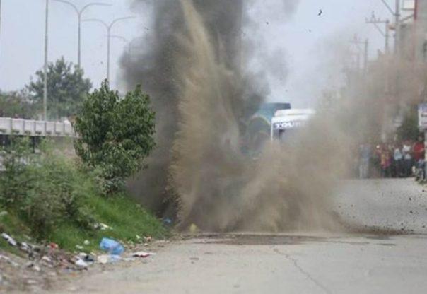 धनगढीमा बम विस्फोट, पाँच घाइते