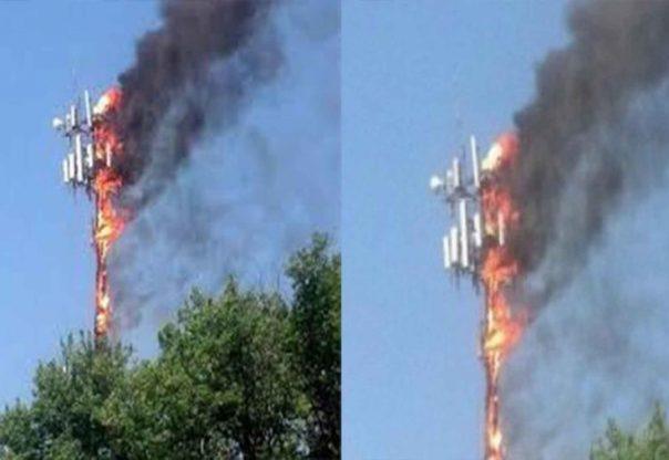 चरिकोटको एनसेल टावरमा आगजनी