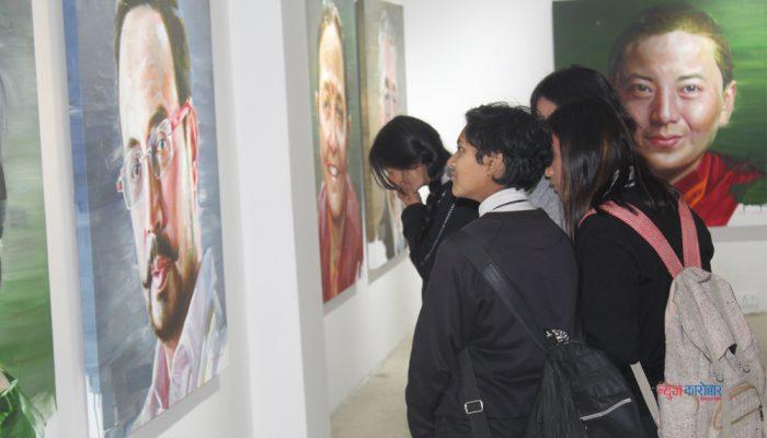 १४ व्यक्तित्वको चित्र प्रदर्शनीमा (फोटो फिचर)