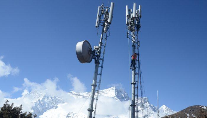 ३९ सय मिटर उचाइमा नेपाल टेलिकमको फोरजी सेवा