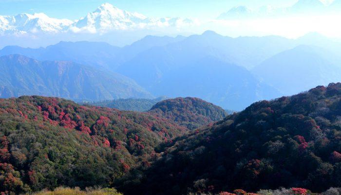 बागलुङको पर्यटकीय क्षेत्र 'घुम्टे' चढ्न नयाँ पदमार्ग